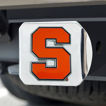 Syracuse University Color Hitch Cover - Chrome