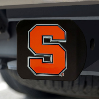 Syracuse University Hitch Cover - Color on Black