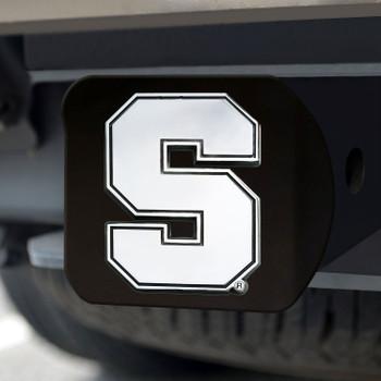 Syracuse University Hitch Cover - Chrome on Black