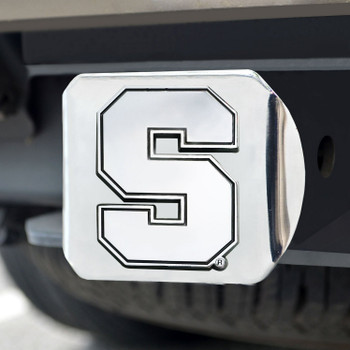 Syracuse University Hitch Cover - Chrome on Chrome