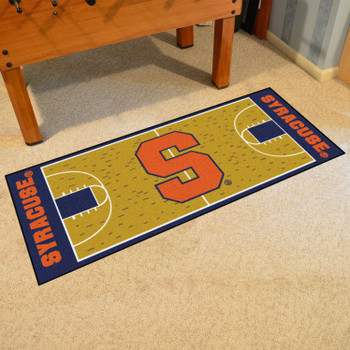 "30"" x 72"" Syracuse University NCAA Basketball Rectangle Runner Mat"