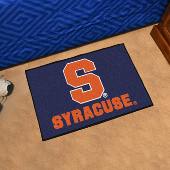 "19"" x 30"" Syracuse University Blue Rectangle Starter Mat"