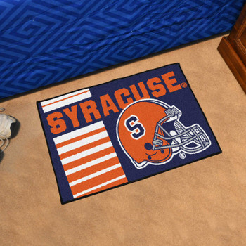 "19"" x 30"" Syracuse University Uniform Blue Rectangle Starter Mat"