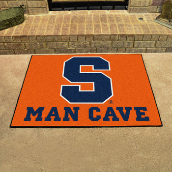 "33.75"" x 42.5"" Syracuse University Man Cave All-Star Orange Rectangle Mat"