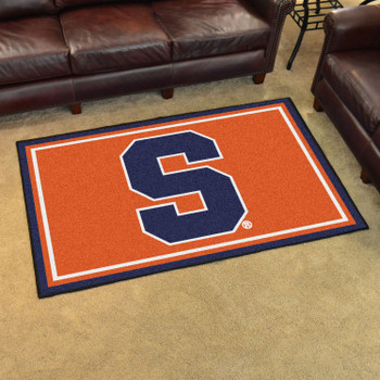 4' x 6' Syracuse University Orange Rectangle Rug