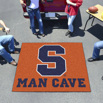 "59.5"" x 71"" Syracuse University Man Cave Tailgater Orange Rectangle Mat"