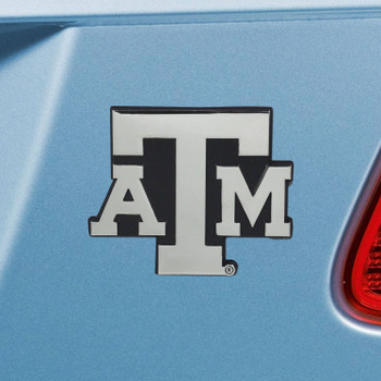 Texas A&M University Chrome Emblem, Set of 2