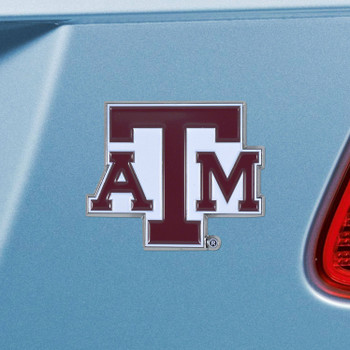 Texas A&M University Maroon Color Emblem, Set of 2