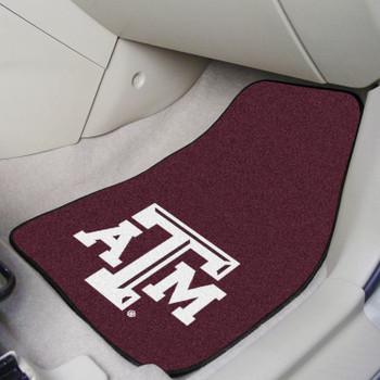 Texas A&M University Maroon Carpet Car Mat, Set of 2