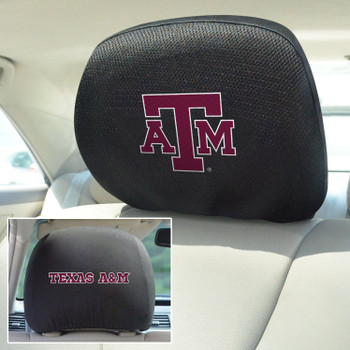 Texas A&M University Car Headrest Cover, Set of 2