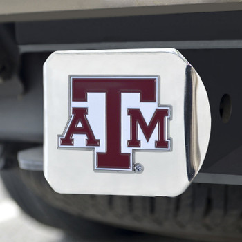 Texas A&M University Color Hitch Cover - Chrome