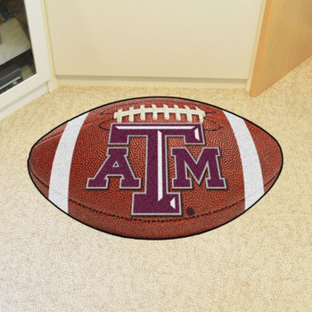 "20.5"" x 32.5"" Texas A&M University Football Shape Mat"