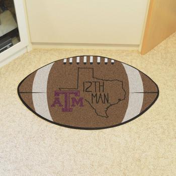 "20.5"" x 32.5"" Texas A&M University Southern Style Football Shape Mat"
