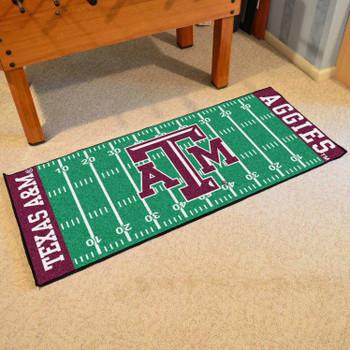 """30"""" x 72"""" Texas A&M University Football Field Rectangle Runner Mat"""