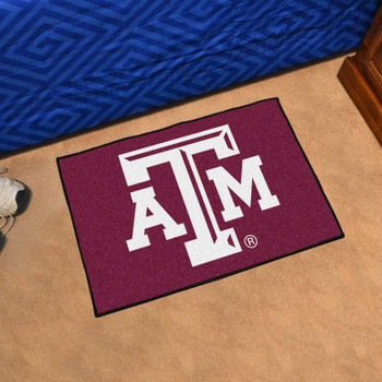 "19"" x 30"" Texas A&M University Maroon Rectangle Starter Mat"