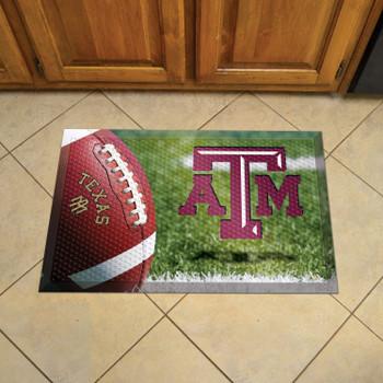 "19"" x 30"" Texas A&M University Rectangle Scraper Mat - ""ATM"" Logo"