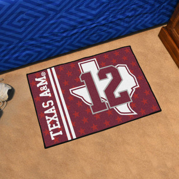 "19"" x 30"" Texas A&M University Aggies Maroon Rectangle Starter Mat"