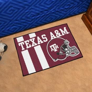 """19"""" x 30"""" Texas A&M University Uniform Maroon Rectangle Starter Mat"""