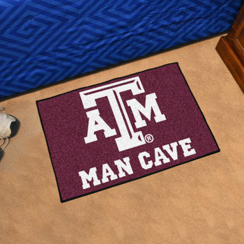 "19"" x 30"" Texas A&M University Man Cave Starter Maroon Rectangle Mat"