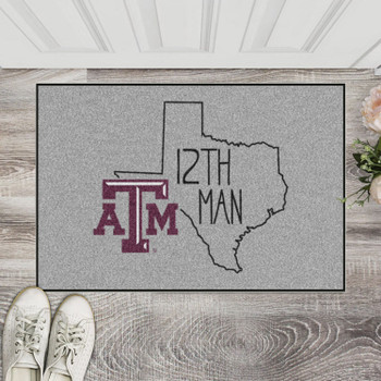"19"" x 30"" Texas A&M University Southern Style Gray Rectangle Starter Mat"
