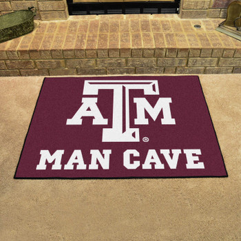 "33.75"" x 42.5"" Texas A&M University Man Cave All-Star Maroon Rectangle Mat"