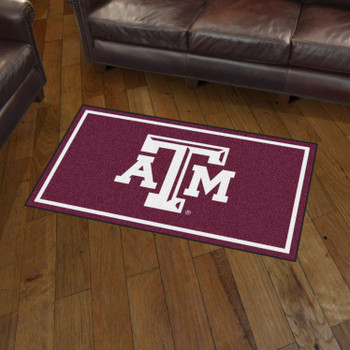 3' x 5' Texas A&M University Maroon Rectangle Rug
