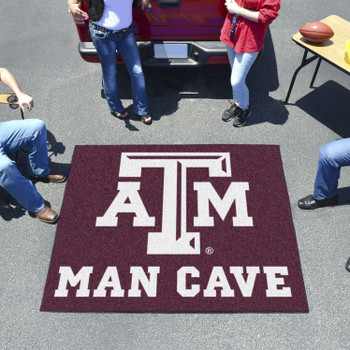 "59.5"" x 71"" Texas A&M University Man Cave Tailgater Maroon Rectangle Mat"