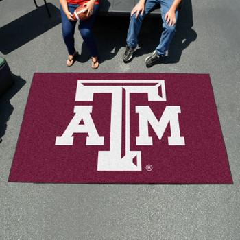 "59.5"" x 94.5"" Texas A&M University Maroon Rectangle Ulti Mat"