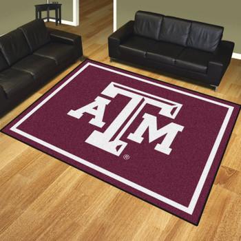 8' x 10' Texas A&M University Maroon Rectangle Rug