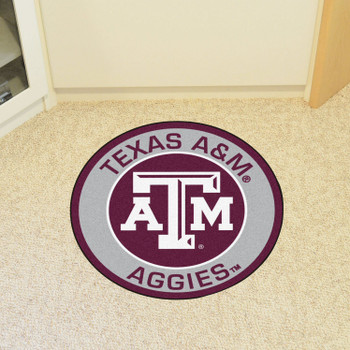"27"" Texas A&M University Roundel Round Mat"