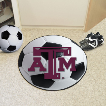 "27"" Texas A&M University Soccer Ball Round Mat"