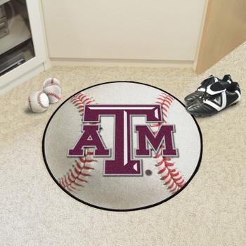 """27"""" Texas A&M University Baseball Style Round Mat"""