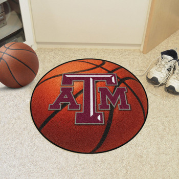 "27"" Texas A&M University Basketball Style Round Mat"