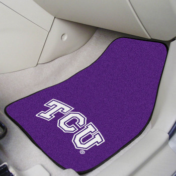 Texas Christian University Purple Carpet Car Mat, Set of 2