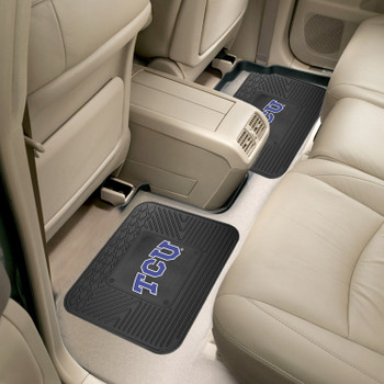 Texas Christian University Heavy Duty Vinyl Car Utility Mats, Set of 2