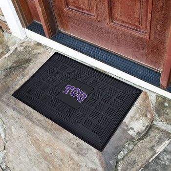 "19.5"" x 31.25"" Texas Christian University Medallion Rectangle Door Mat"