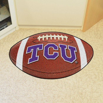 "20.5"" x 32.5"" Texas Christian University Football Shape Mat"