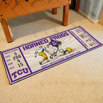 "30"" x 72"" Texas Christian University Ticket Rectangle Runner Mat"
