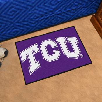 "19"" x 30"" Texas Christian University Purple Rectangle Starter Mat"