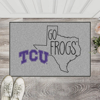 "19"" x 30"" Texas Christian University Southern Style Gray Rectangle Starter Mat"