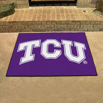 "33.75"" x 42.5"" Texas Christian University All Star Purple Rectangle Mat"