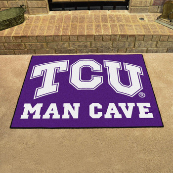 "33.75"" x 42.5"" Texas Christian University Man Cave All-Star Purple Rectangle Mat"