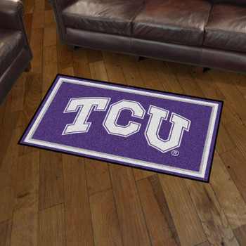 3' x 5' Texas Christian University Purple Rectangle Rug