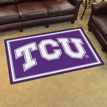 4' x 6' Texas Christian University Purple Rectangle Rug