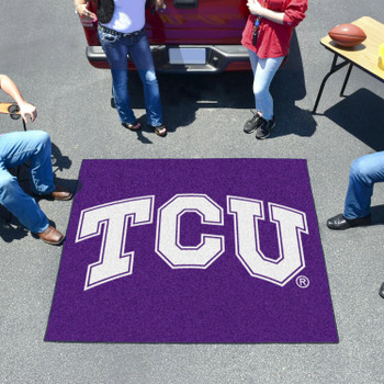 "59.5"" x 71"" Texas Christian University Purple Tailgater Mat"