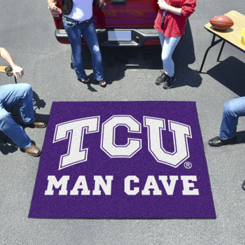 "59.5"" x 71"" Texas Christian University Man Cave Tailgater Purple Rectangle Mat"