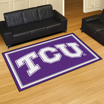 5' x 8' Texas Christian University Purple Rectangle Rug