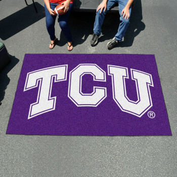 "59.5"" x 94.5"" Texas Christian University Purple Rectangle Ulti Mat"