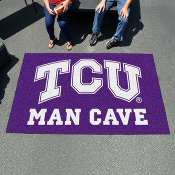 "59.5"" x 94.5"" Texas Christian University Man Cave Purple Rectangle Ulti Mat"