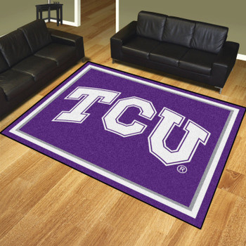 8' x 10' Texas Christian University Purple Rectangle Rug